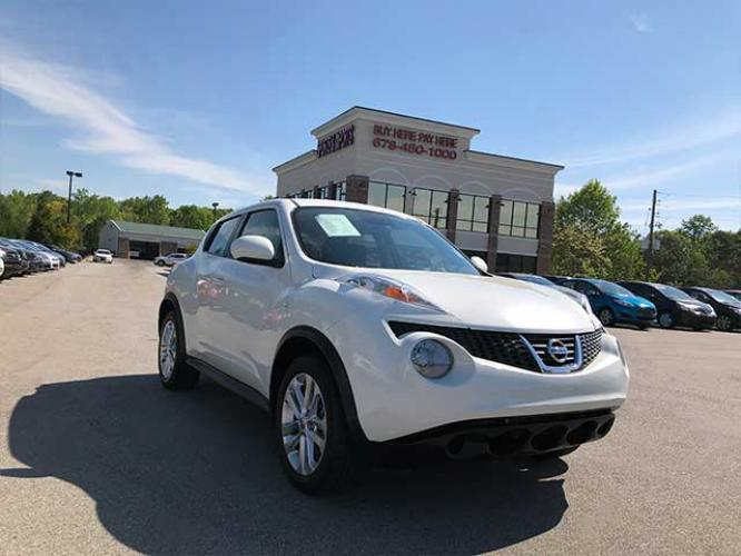 2013 Nissan Juke S FWD (JN8AF5MR1DT) with an 1.6L L4 DOHC 16V engine, Continuously Variable Transmission transmission, located at 4247 Buford Drive NE, Buford, GA, 30518, (678) 450-1000, 34.086857, -83.993004 - Photo #0