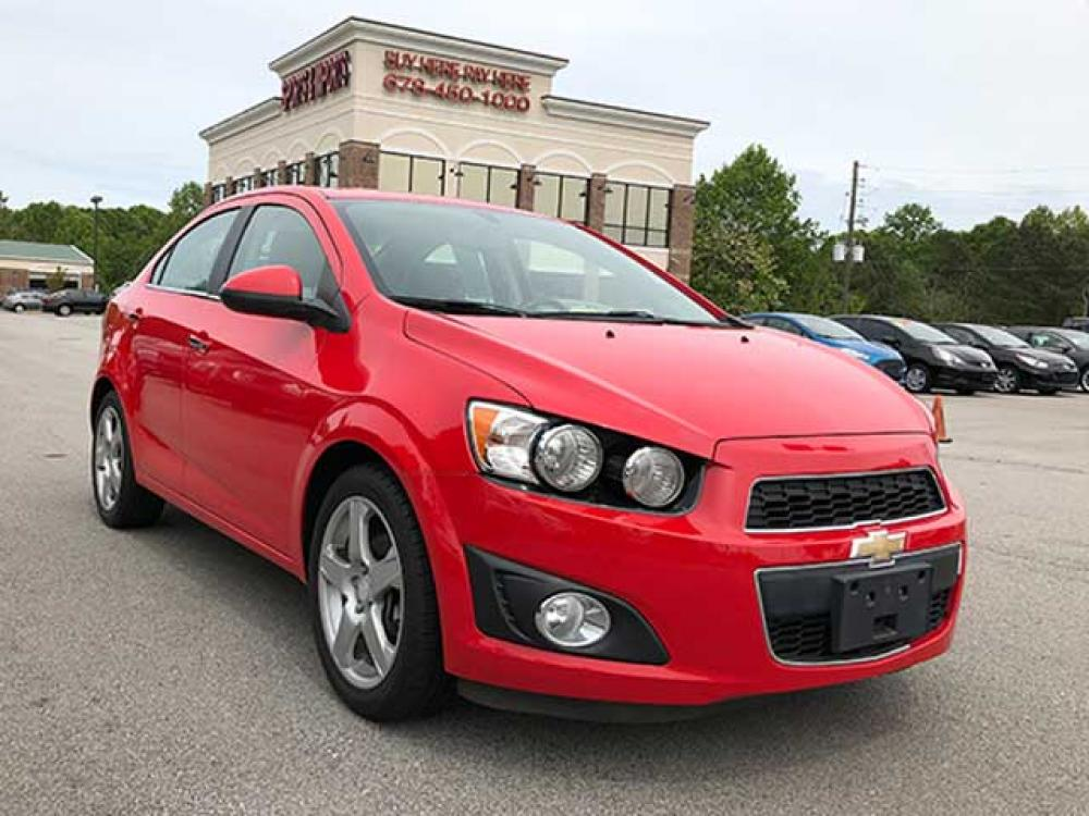 2015 Chevrolet Sonic LTZ Auto Sedan (1G1JE5SB8F4) with an 1.4L L4 DOHC 24V TURBO engine, 6-Speed Automatic transmission, located at 4247 Buford Drive NE, Buford, GA, 30518, (678) 450-1000, 34.086857, -83.993004 - Photo #0