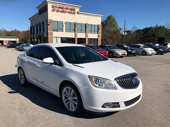 2014 Buick Verano Base (1G4PP5SKXE4) with an 2.4L L4 DOHC 16V FFV engine, 6-Speed Automatic transmission, located at 4247 Buford Drive NE, Buford, GA, 30518, (678) 450-1000, 34.086857, -83.993004 - Photo #0