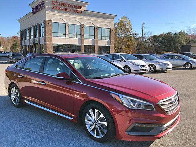 2016 Hyundai Sonata Sport (5NPE34AF6GH) with an 2.4L L4 DOHC 16V engine, 6A transmission, located at 4247 Buford Drive NE, Buford, GA, 30518, (678) 450-1000, 34.086857, -83.993004 - Photo #0