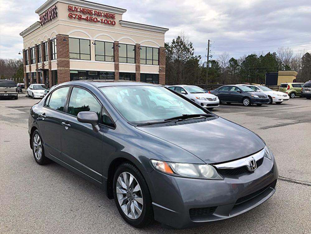 2010 Honda Civic EX Sedan 5-Speed AT (19XFA1F84AE) with an 1.8L L4 SOHC 16V engine, 5-Speed Automatic transmission, located at 620 Jesse Jewell Pkwy, Gainesville, GA, 30501, (678) 450-1000, 34.305923, -83.809784 - Photo #0