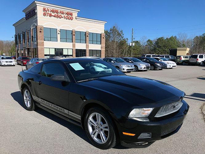 2010 Ford Mustang V6 Coupe (1ZVBP8ANXA5) with an 4.0L V6 OHC 12V engine, located at 4247 Buford Drive NE, Buford, GA, 30518, (678) 450-1000, 34.086857, -83.993004 - Photo #0