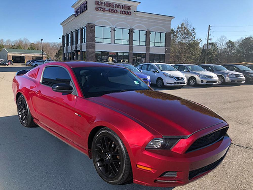 2014 Ford Mustang V6 Coupe (1ZVBP8AM3E5) with an 3.7L V6 DOHC 24V engine, located at 4247 Buford Drive NE, Buford, GA, 30518, (678) 450-1000, 34.086857, -83.993004 - Photo #0
